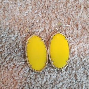 Kendra Scott Danielle Yellow Earrings